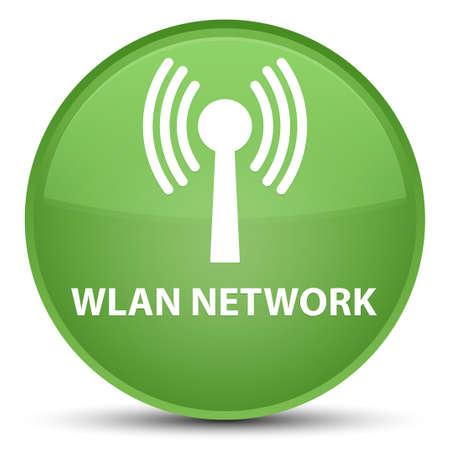 Réseau WLAN isolé sur illustration abstraite spéciale bouton rond vert doux Banque d'images - 89675772