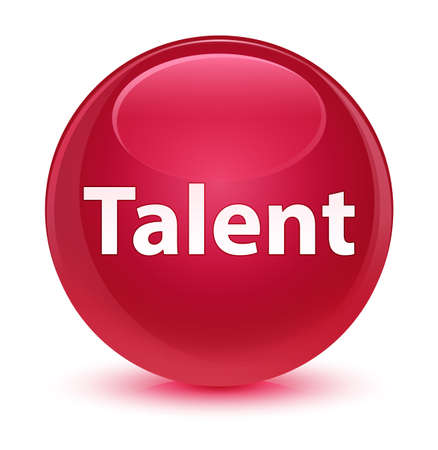 Talent isolated on glassy pink round button abstract illustration Stock fotó