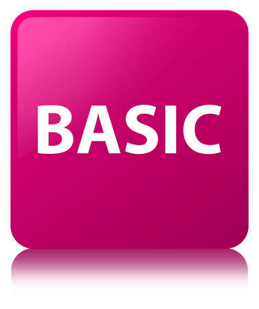 Basic isolated on pink square button reflected abstract illustration Фото со стока