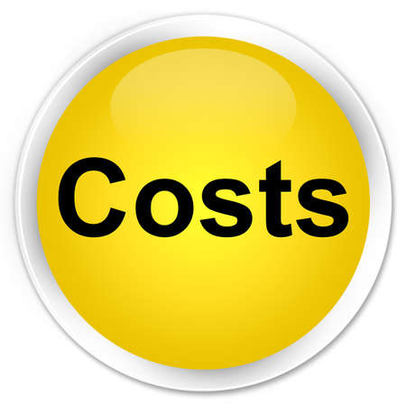 Costs isolated on premium yellow round button abstract illustration