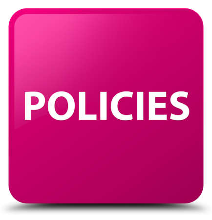 Policies isolated on pink square button abstract illustration