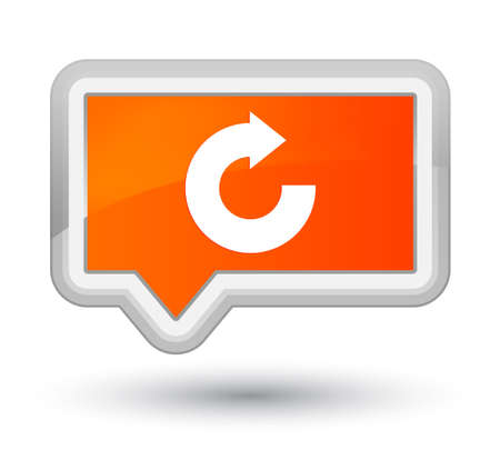 Reply arrow icon isolated on prime orange banner button abstract illustration