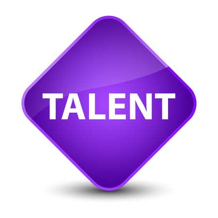 Talent isolated on elegant purple diamond button abstract illustration Stock fotó