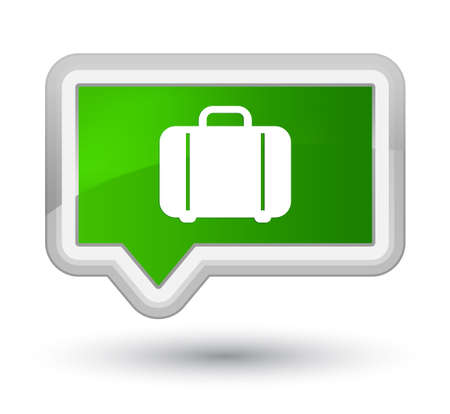 Bag icon isolated on prime green banner button abstract illustration
