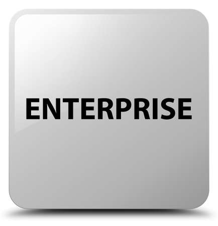 Enterprise isolated on white square button abstract illustration