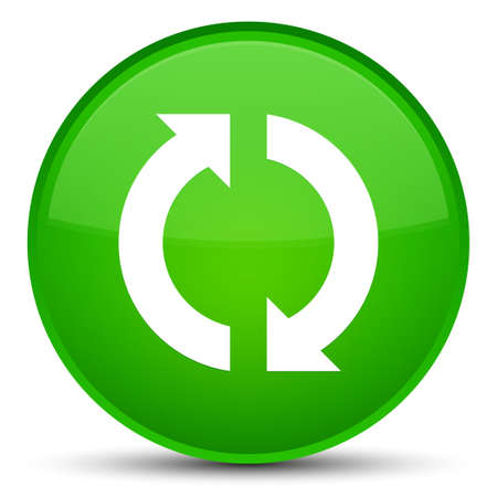 Update icon isolated on special green round button abstract illustration Stock Photo