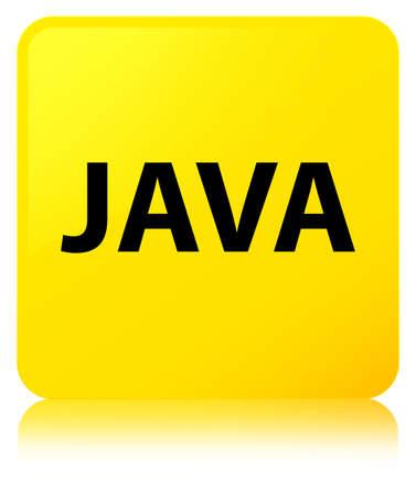 黄色の正方形のボタンに分離された Java は抽象的なイラストを反射