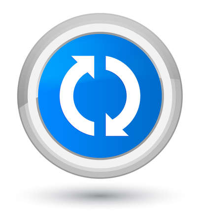 Icono de actualización aislado en la ilustración abstracta de cian azul redondo botón abstracto