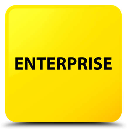 Enterprise isolated on yellow square button abstract illustration Stok Fotoğraf