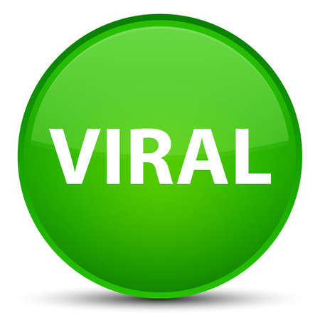 Viral isolated on special green round button abstract illustration