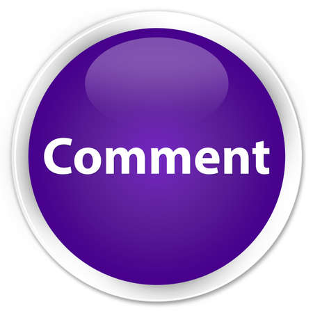 Comment isolated on premium purple round button abstract illustration Reklamní fotografie