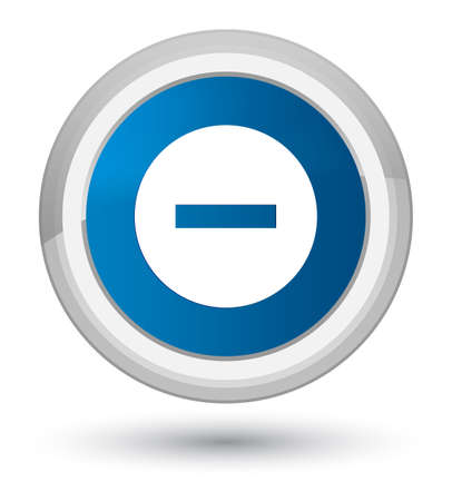 no symbol: Cancel icon isolated on prime blue round button abstract illustration Stock Photo