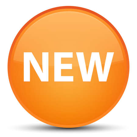 recent: New isolated on special orange round button abstract illustration