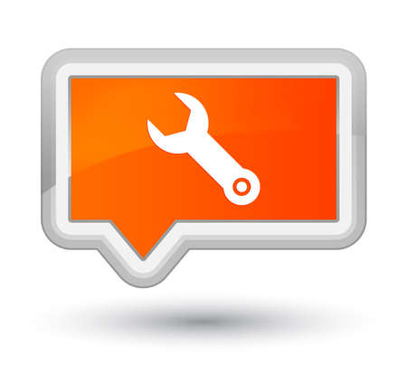 Wrench icon isolated on prime orange banner button abstract illustration