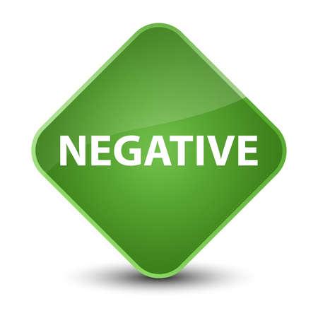 Negative isolated on elegant soft green diamond button abstract illustration