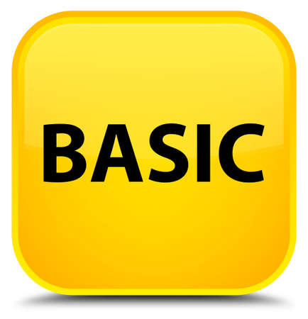 Basic isolated on special yellow square button abstract illustration