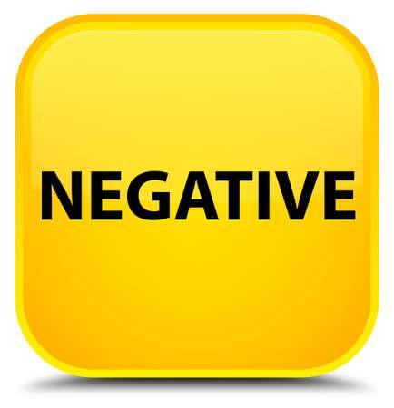 Negativo aislado en la ilustración abstracta de botón cuadrado amarillo especial Foto de archivo - 89638437