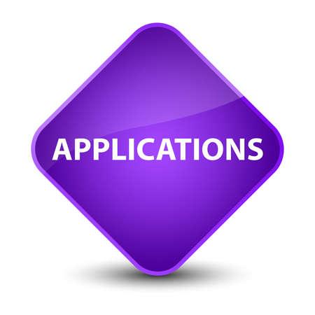 Applications isolated on elegant purple diamond button abstract illustration