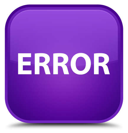 Error isolated on special purple square button abstract illustration