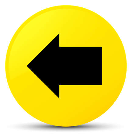 Back arrow icon isolated on yellow round button abstract illustration