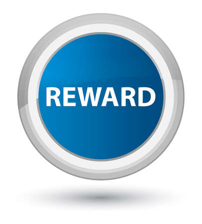 Reward isolated on prime blue round button abstract illustration