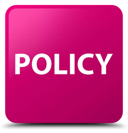 Policy isolated on pink square button abstract illustration Stok Fotoğraf