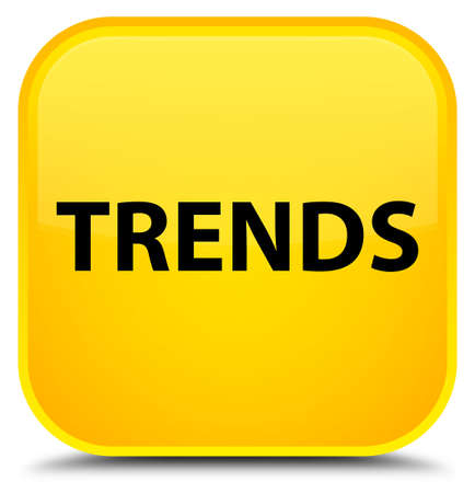 Trends isolated on special yellow square button abstract illustration