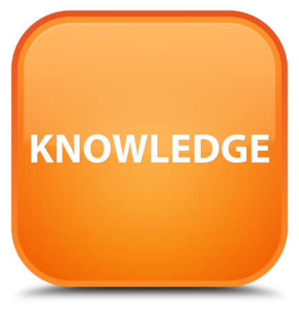 Knowledge isolated on special orange square button abstract illustration