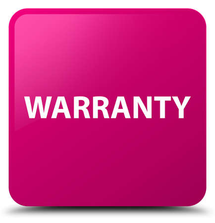 Warranty isolated on pink square button abstract illustration