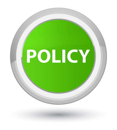 Policy isolated on prime soft green round button abstract illustration Banco de Imagens