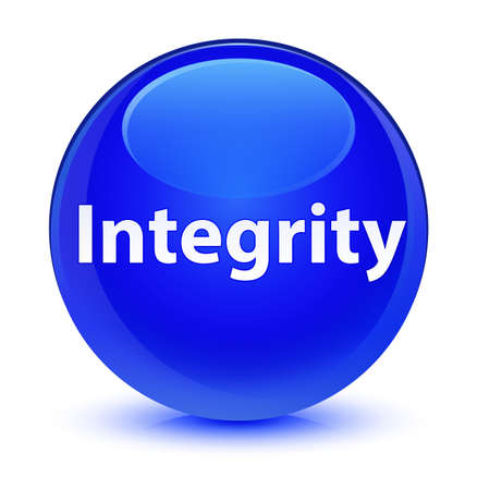 Integrity isolated on glassy blue round button abstract illustration Stock Photo