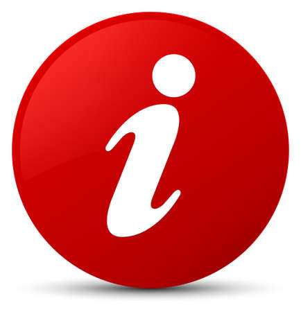 Info icon isolated on red round button abstract illustration Stock Photo