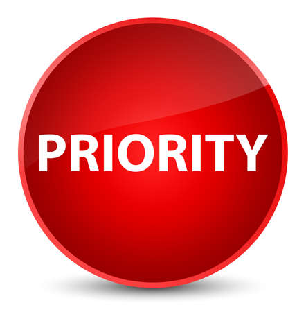 Priority isolated on elegant red round button abstract illustration Stock fotó