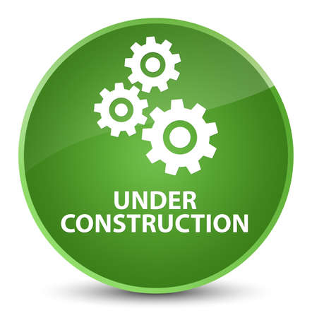Under construction (gears icon) isolated on elegant soft green round button abstract illustration