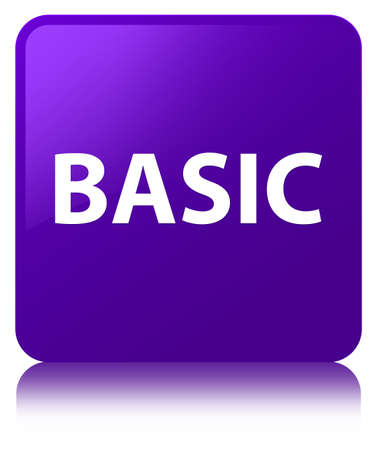 Basic isolated on purple square button reflected abstract illustration