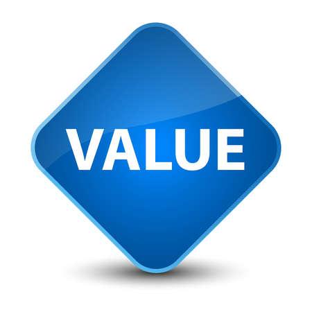 Value isolated on elegant blue diamond button abstract illustration