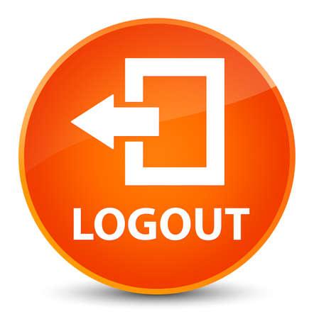 Logout isolated on elegant orange round button abstract illustration
