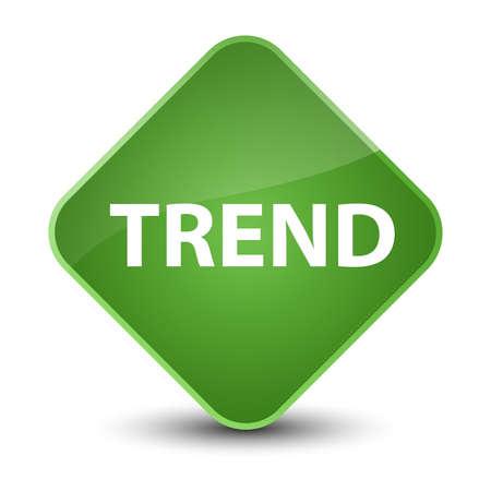 Trend isolated on elegant soft green diamond button abstract illustration Stok Fotoğraf