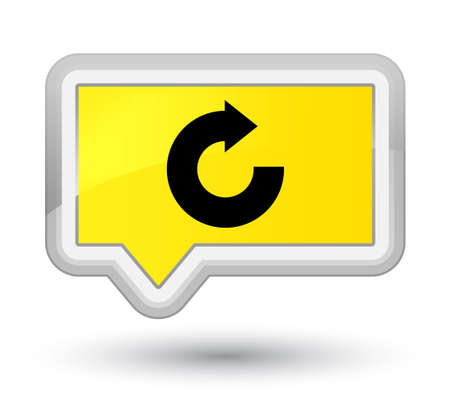 Reply arrow icon isolated on prime yellow banner button abstract illustration