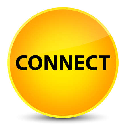 Connect isolated on elegant yellow round button abstract illustration