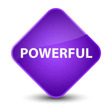 Powerful isolated on elegant purple diamond button abstract illustration