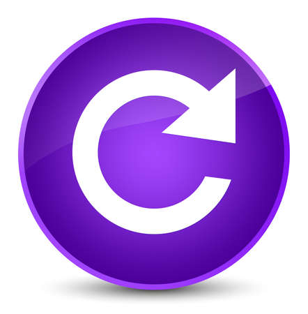 Reply rotate icon isolated on elegant purple round button abstract illustration