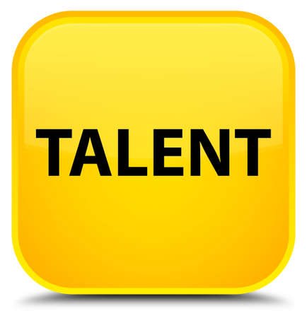 Talent isolated on special yellow square button abstract illustration Stock fotó