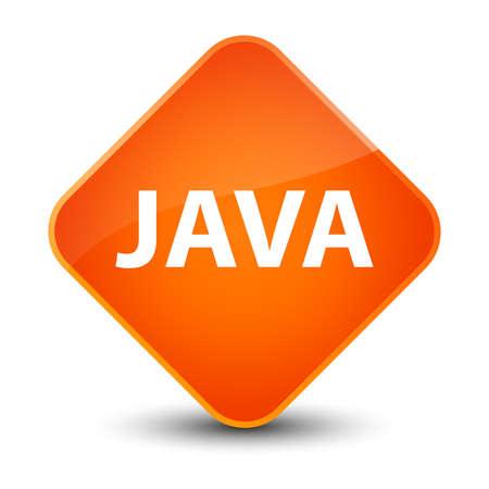 oriented: Java isolated on elegant orange diamond button abstract illustration Stock Photo