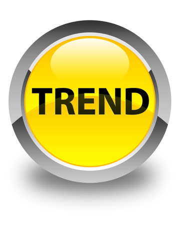 Trend isolated on glossy yellow round button abstract illustration