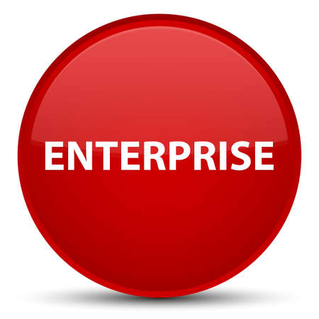 Enterprise isolated on special red round button abstract illustration