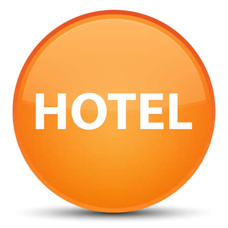 Hotel isolated on special orange round button abstract illustration