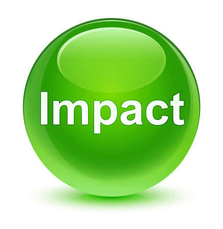 knocking: Impact isolated on glassy green round button abstract illustration