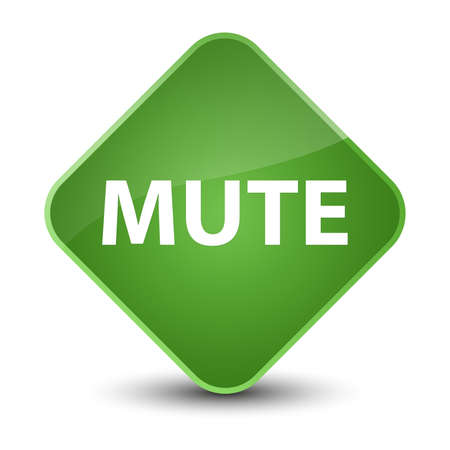 Mute isolated on elegant soft green diamond button abstract illustration