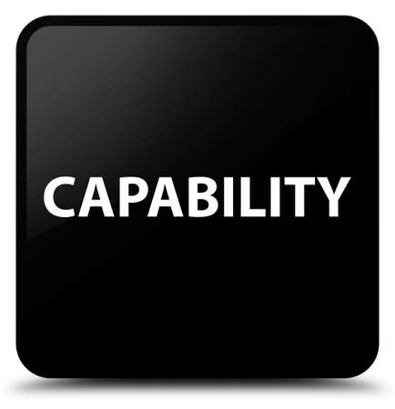 Capability isolated on black square button abstract illustration Stock Photo